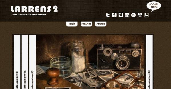 larrens2 gratis theme voor joomla