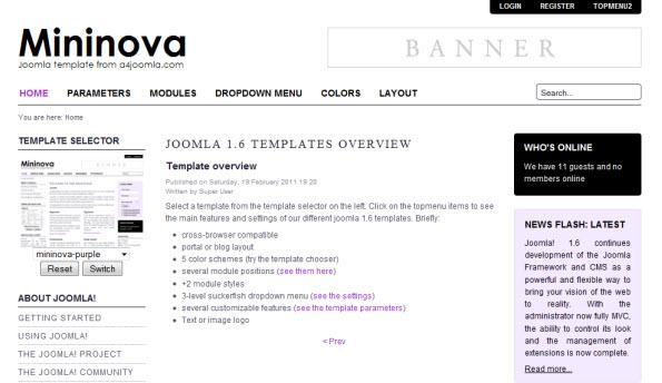 free-template-joomla-1.6-mininova