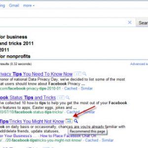 Voorbeeld van de Google +1 knop