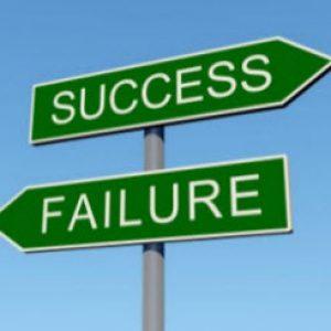 Failuren and success signs