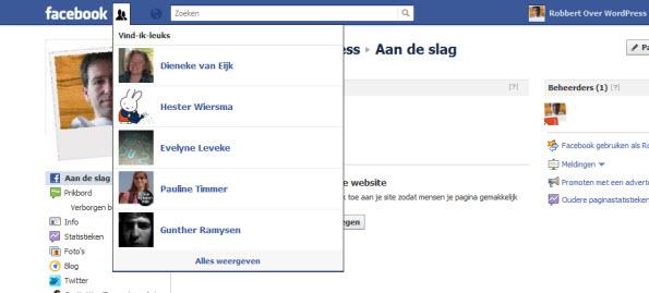 Wie vind mijn facebook pagina leuk?