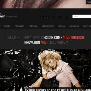 Responsive Joomla template Fashion