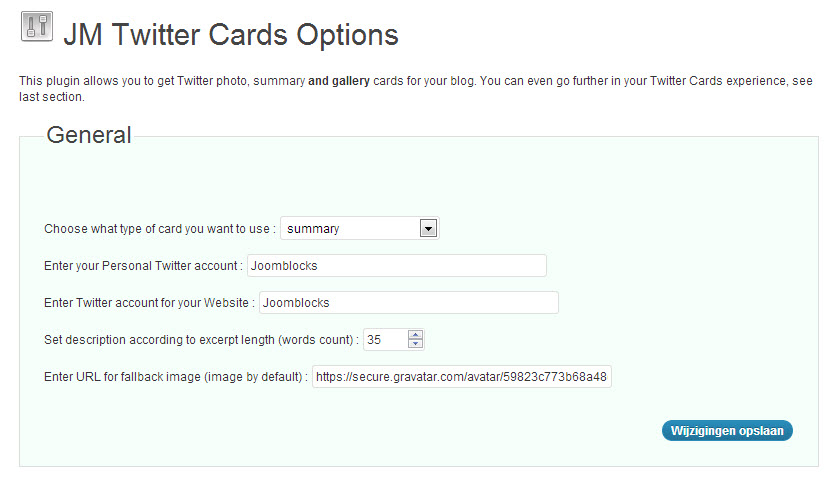 Twitter Cards Plugin voor WordPress
