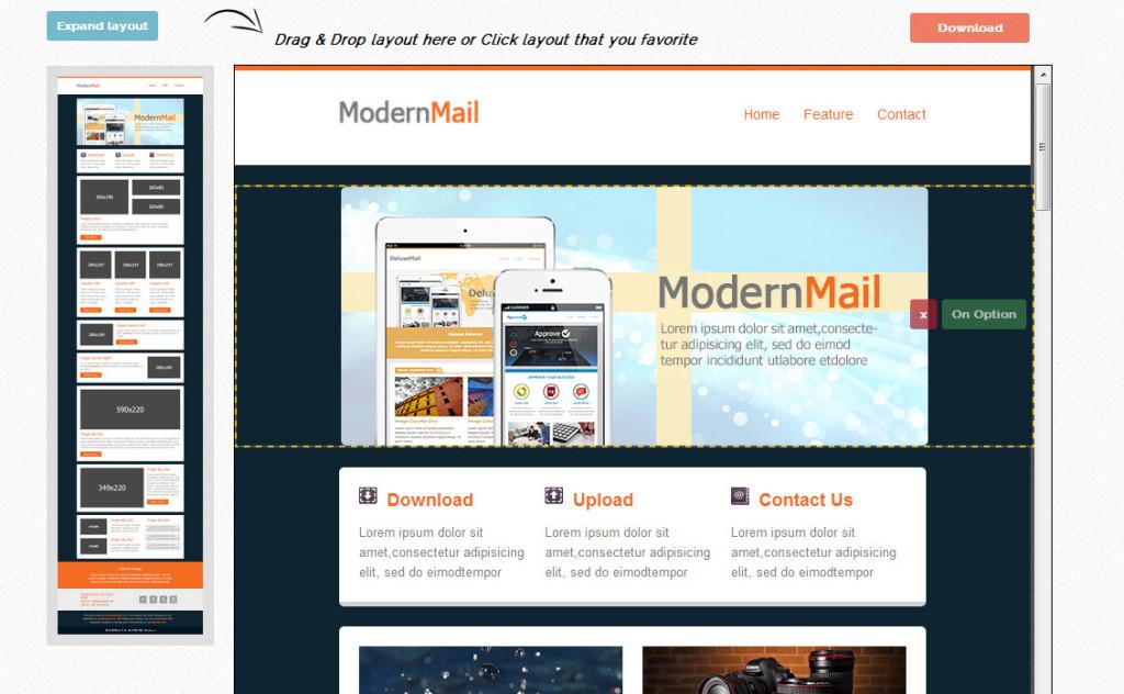 Mailchimp template maken