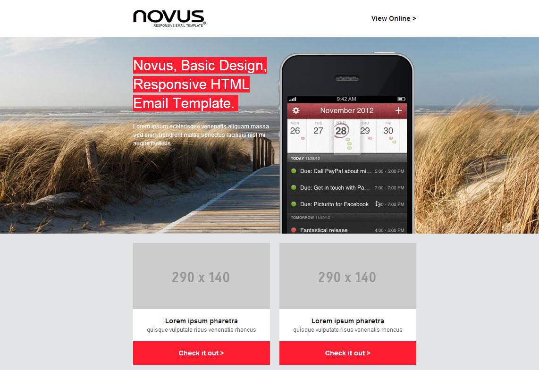 Mailchimp template Novus
