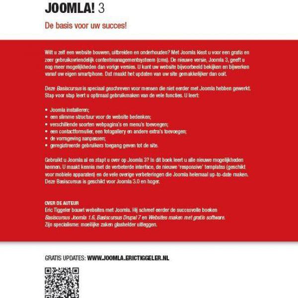 Handleiding Joomla 3 achterzijde
